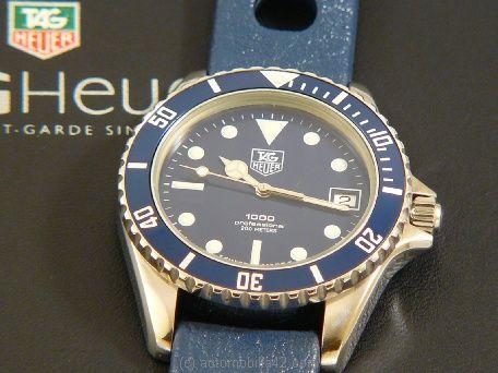 Tag Heuer 1000 Submariner Man Blue on A Blue N O s Tropic ...