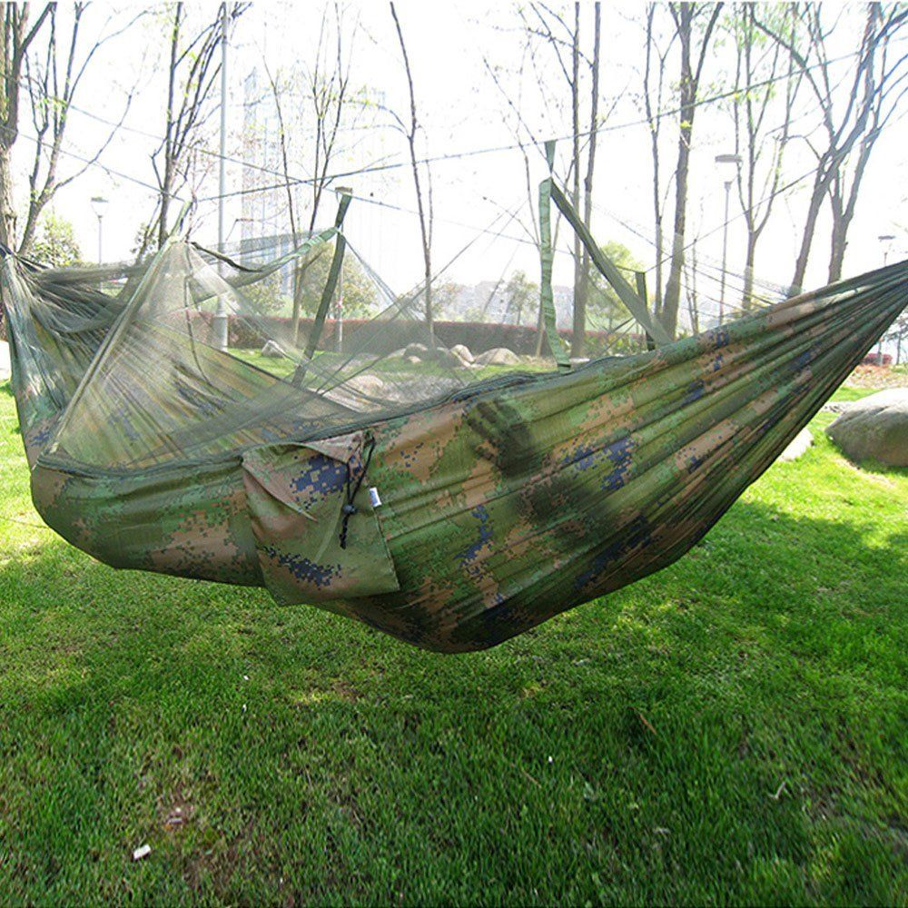 Hot selling portable hammock singleperson folded into the pouch