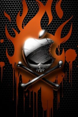 Apple Skull iPhone Wallpaper | Apple logo wallpaper iphone ...