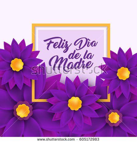 Feliz Dia De La Madre Happy Mother S Day In Spanish Language Handwritten Lettering For Greeting Happy Mother S Day Happy Mothers Day Pictures Happy Mothers