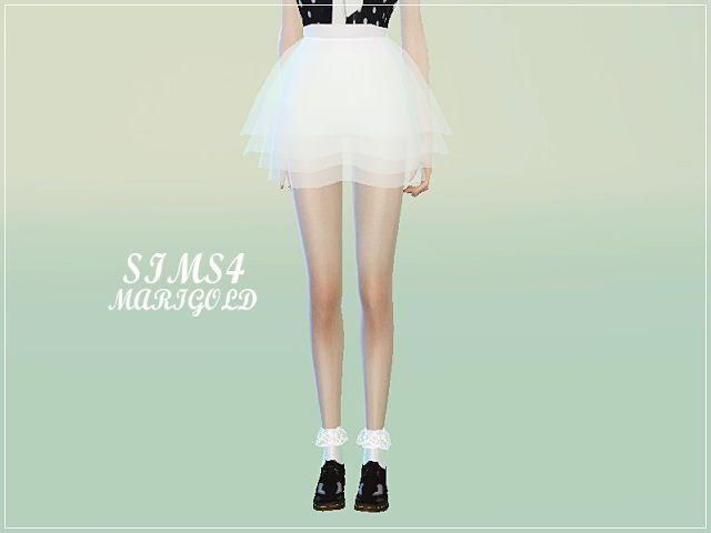 6c0422a698c6 Sims 4 Updates: Marigold - Clothing, Female : Lovely chiffon mini skirt,  Custom