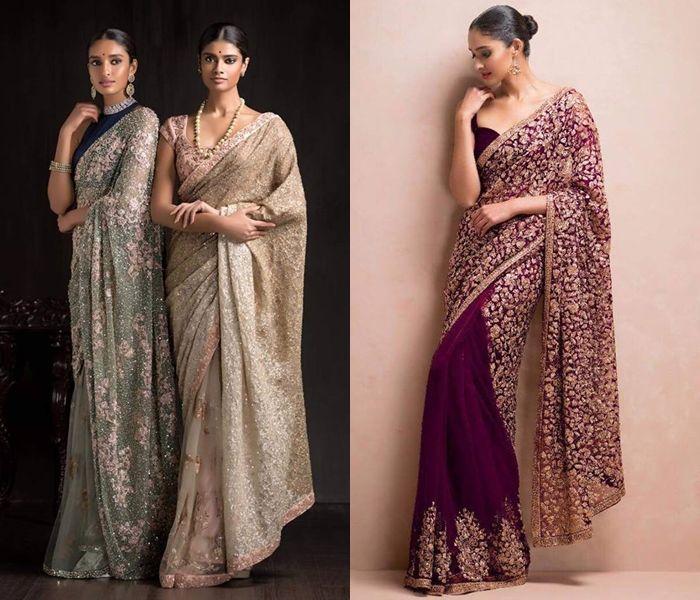 11 Designer Saree Ideas To Pick For Wedding Reception Parties Stylish Sarees Saree Best Designer Sarees