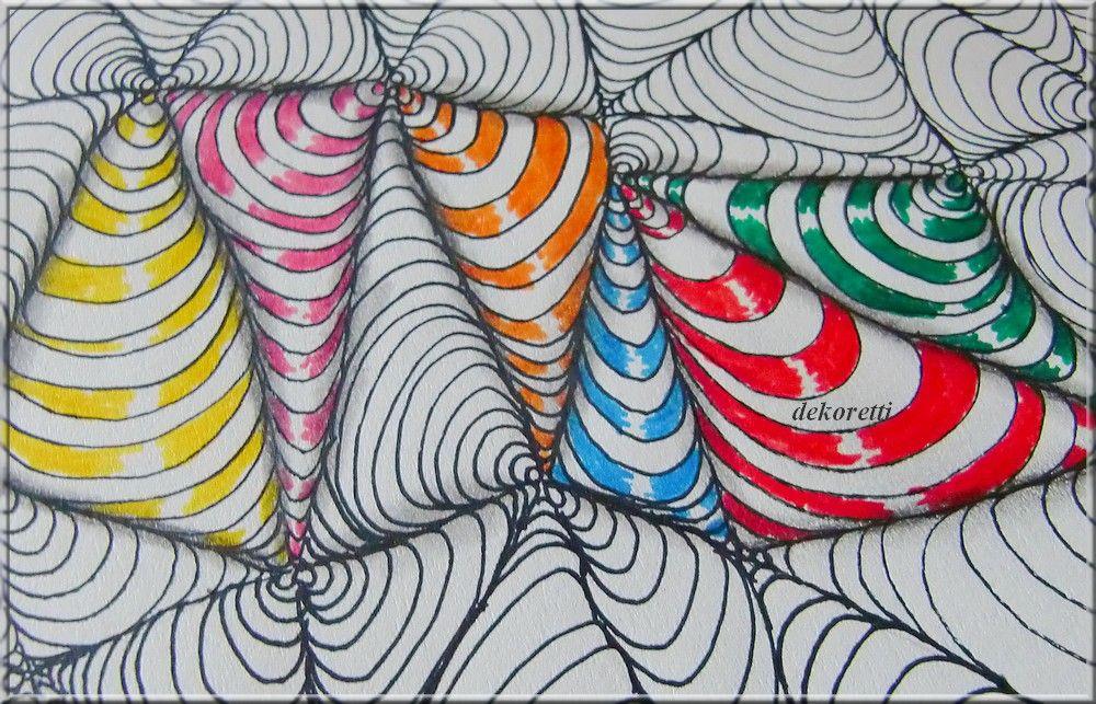 triangle, zendoodle, doodle pattern, free colorin page, Seite zum Ausdrucken und selber Ausmalen http://dekoretti.blogspot.de/2017/03/viele-viele-dreiecke.html
