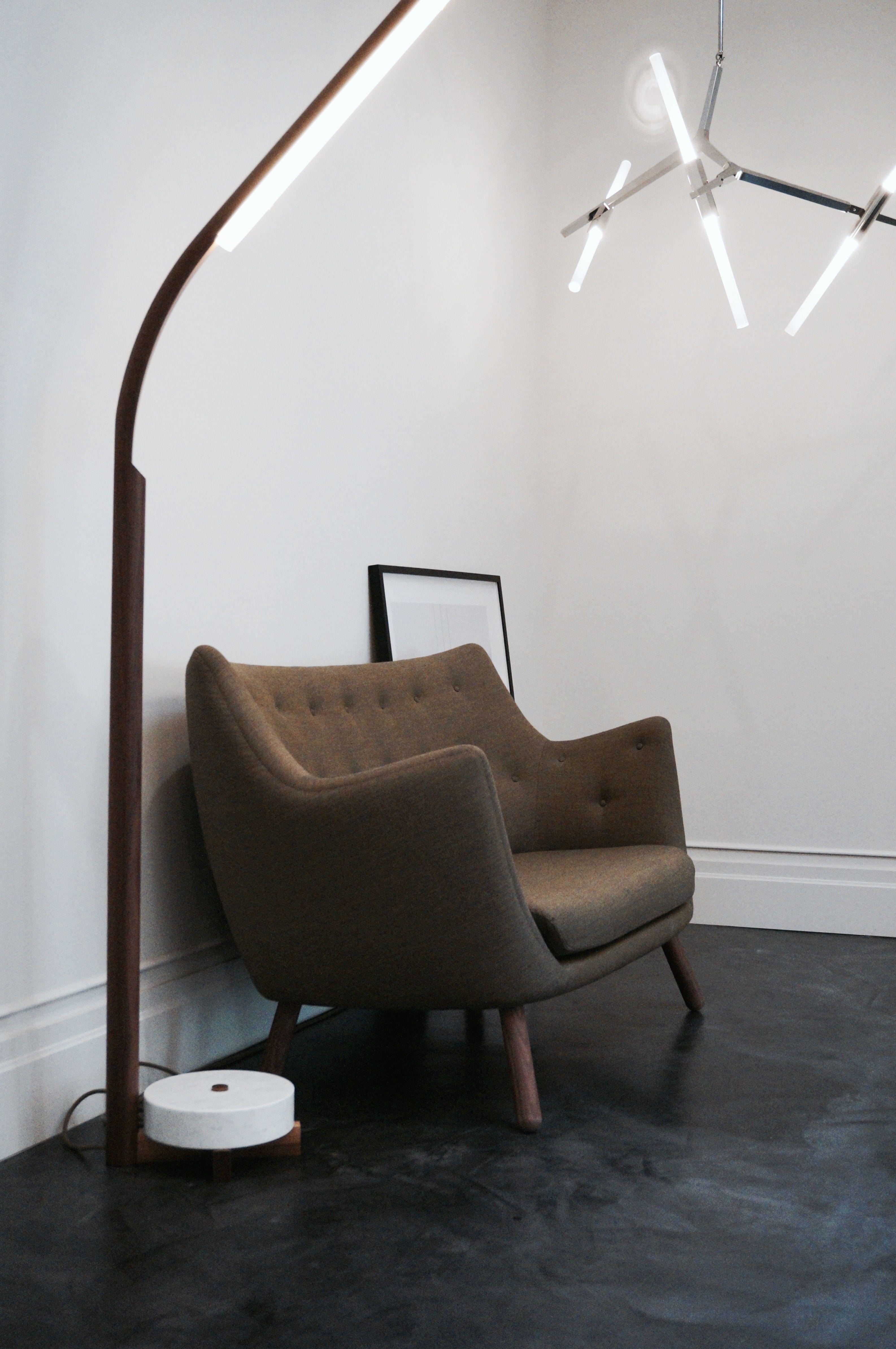 Stunning Danish Furniture Design. Finn Juhl Designed The Poet Sofa In 1941.  Black Floor
