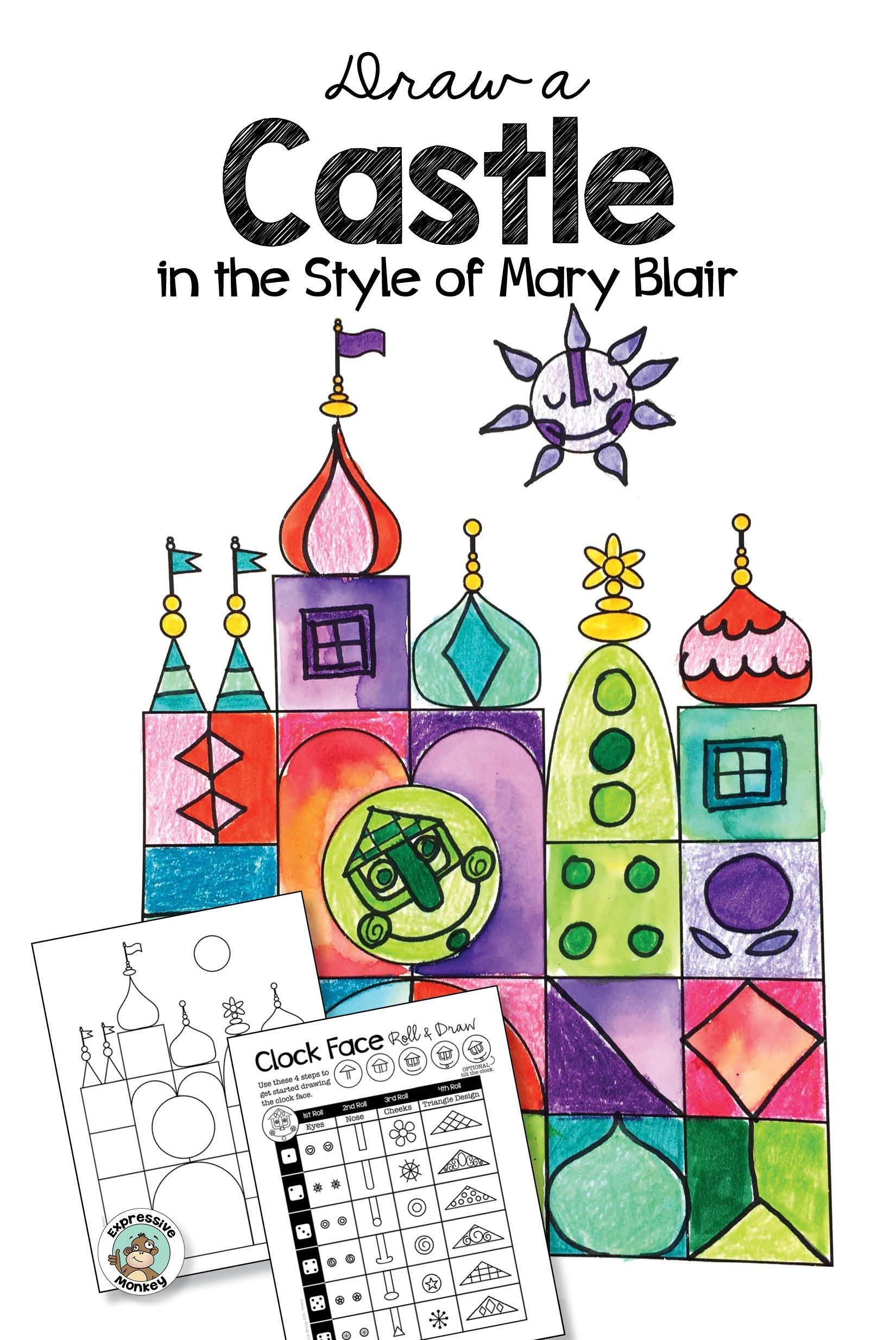 Castle Design in the Style of Mary Blair