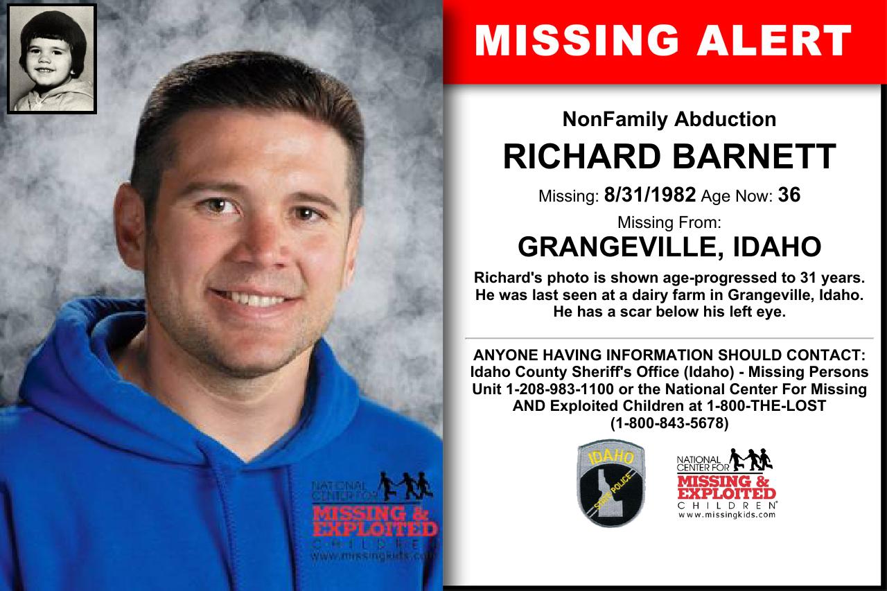 RICHARD BARNETT, Age Now: 36, Missing: 08/31/1982  Missing From