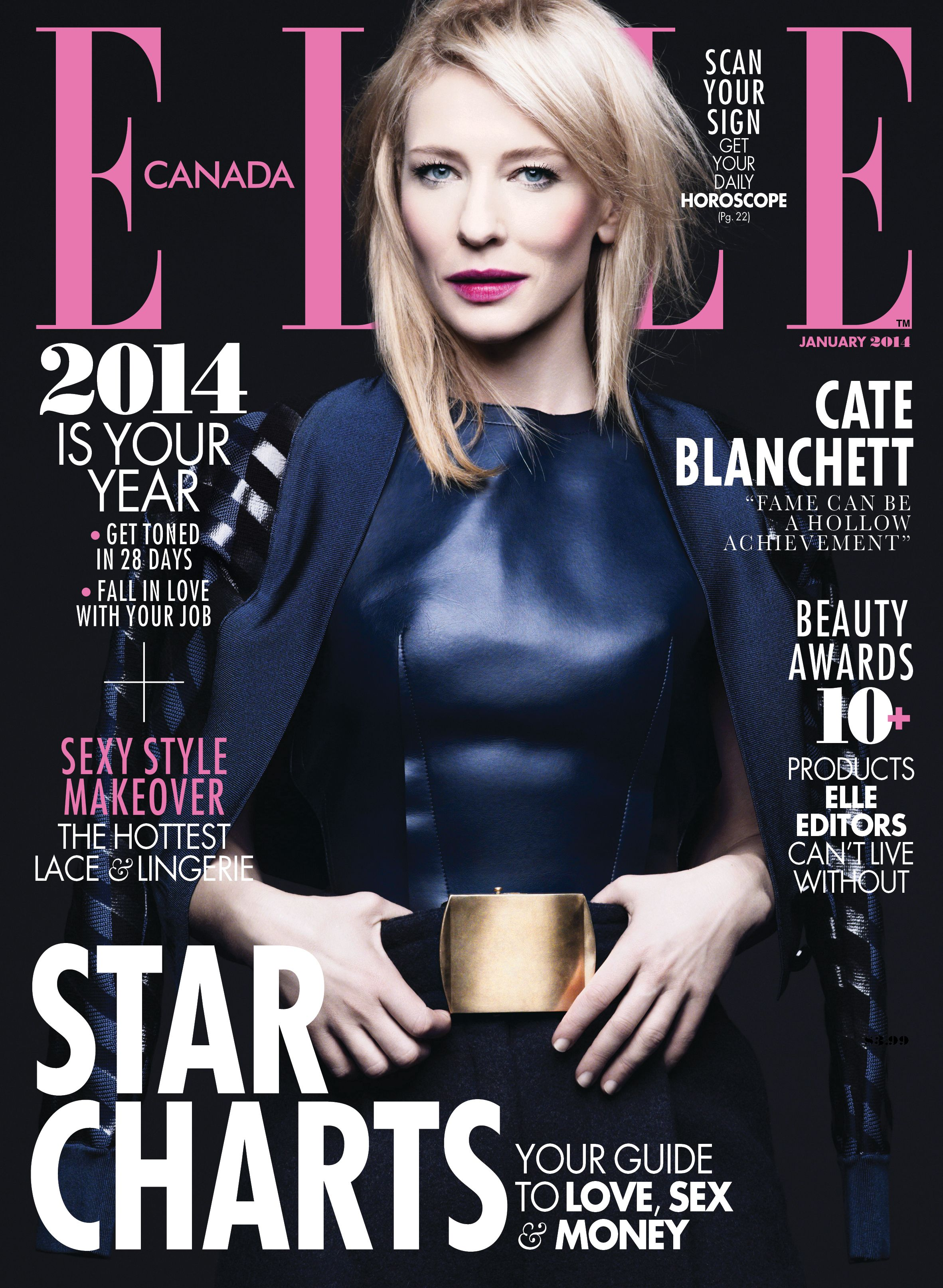 Cate Blanchett is the cover girl on ELLE Canada's January