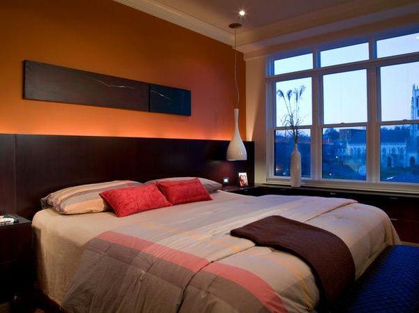 30 Orange Bedroom Ideas - Slaapkamer oranje, Oranje slaapkamers en ...