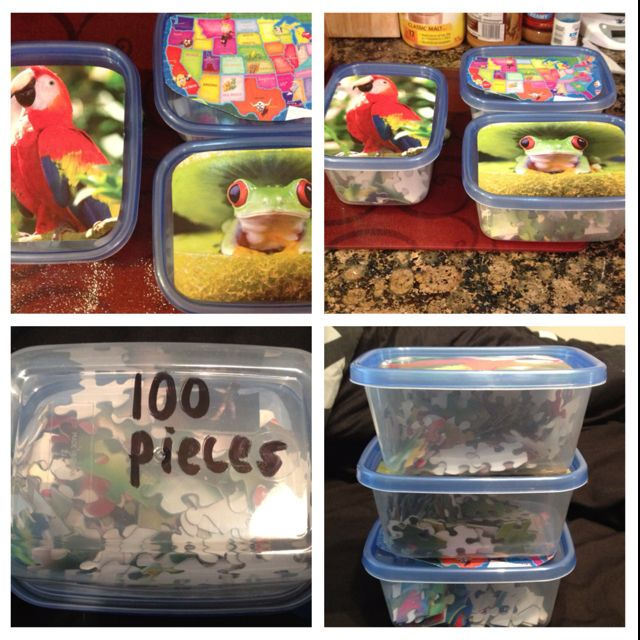 Puzzle Storage Containers 1 Puzzles From Dollar Tree And Are 3 For At