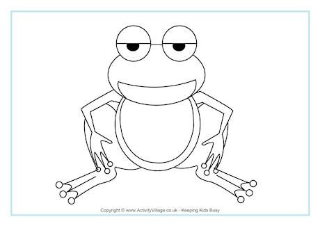 Frog Colouring Page | Coloring Pages | Pinterest