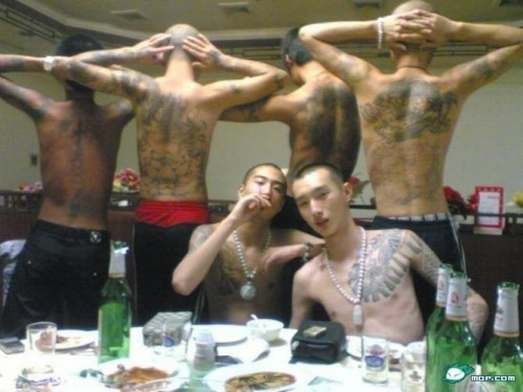 Image result for chinese triad violence