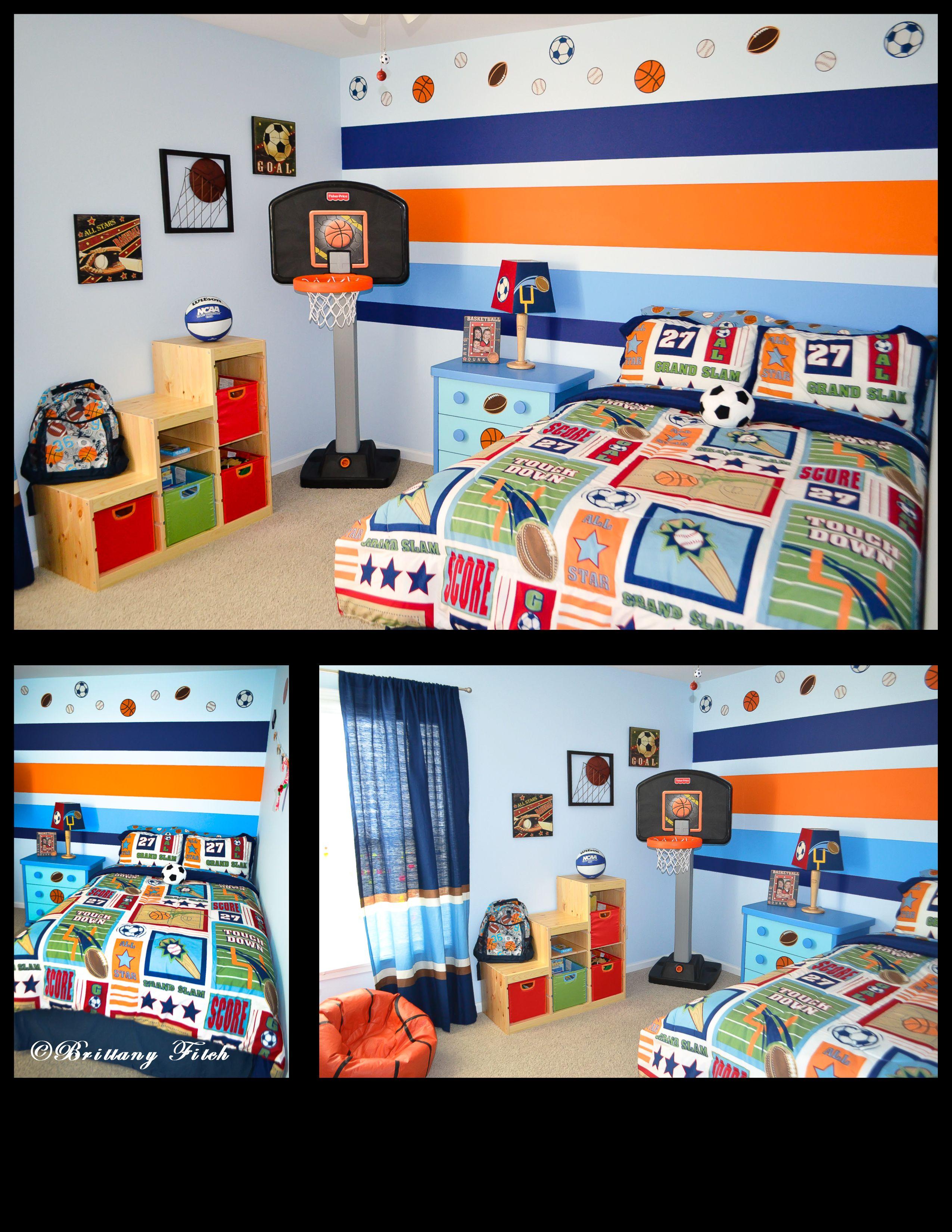 kids sports theme bedroom