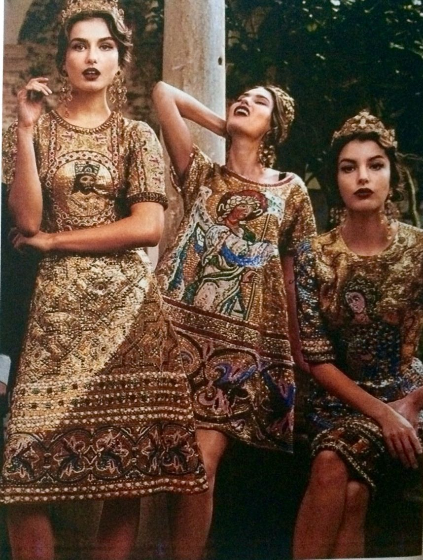 Bizancio 395. D.C - 1.453 D.C  diseñador http://www.dolcegabbana.com/  Dolce & Gabbana