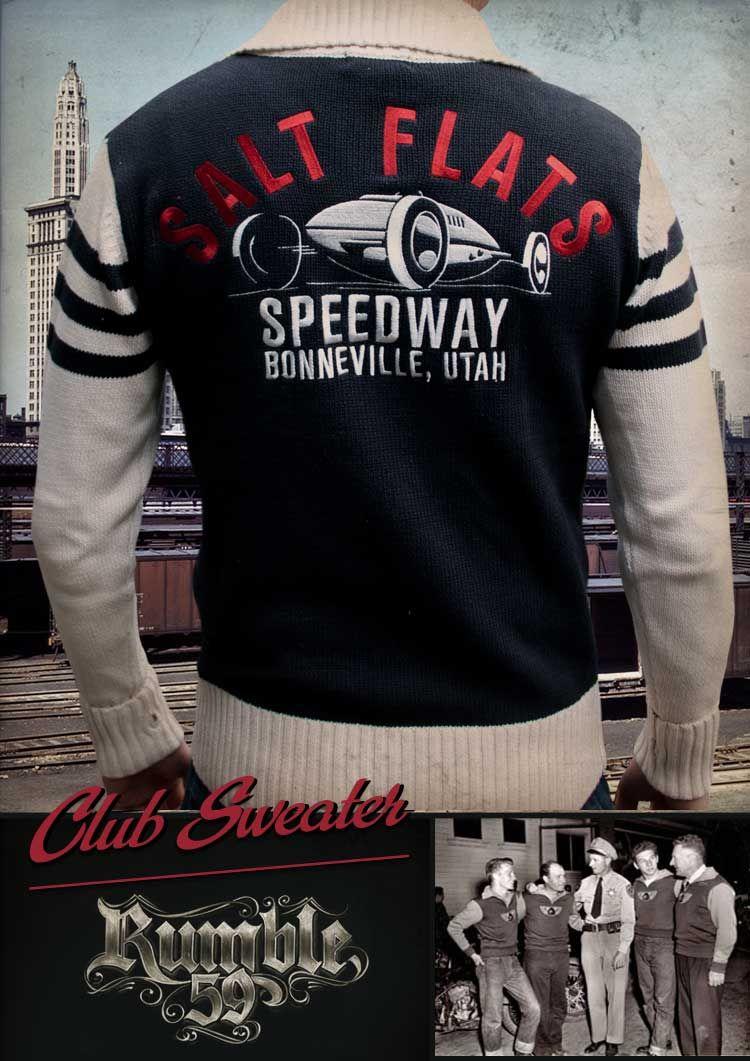 rumble59 racing sweater salt flats speedway roba pinterest konzeptfahrzeuge und m nnermode. Black Bedroom Furniture Sets. Home Design Ideas