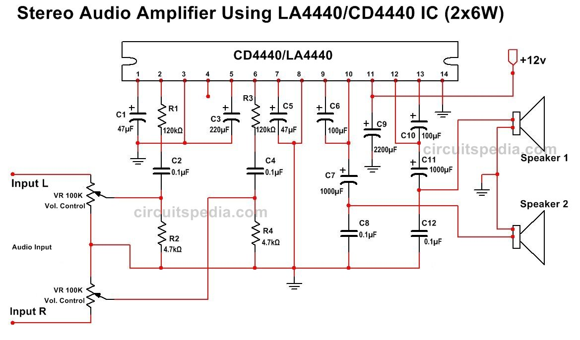 medium resolution of la4440 cd4440 stereo audio amplifier circuit diagram la4440 ic circuitdiagram amplifiercircuit pulseddistributedamplifierhtml