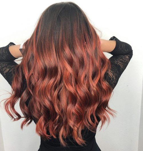 28 Blazing Hot Red Ombre Hair Color Ideas In 2021 Hair Color Red Ombre Red Ombre Hair Brunette Hair Color