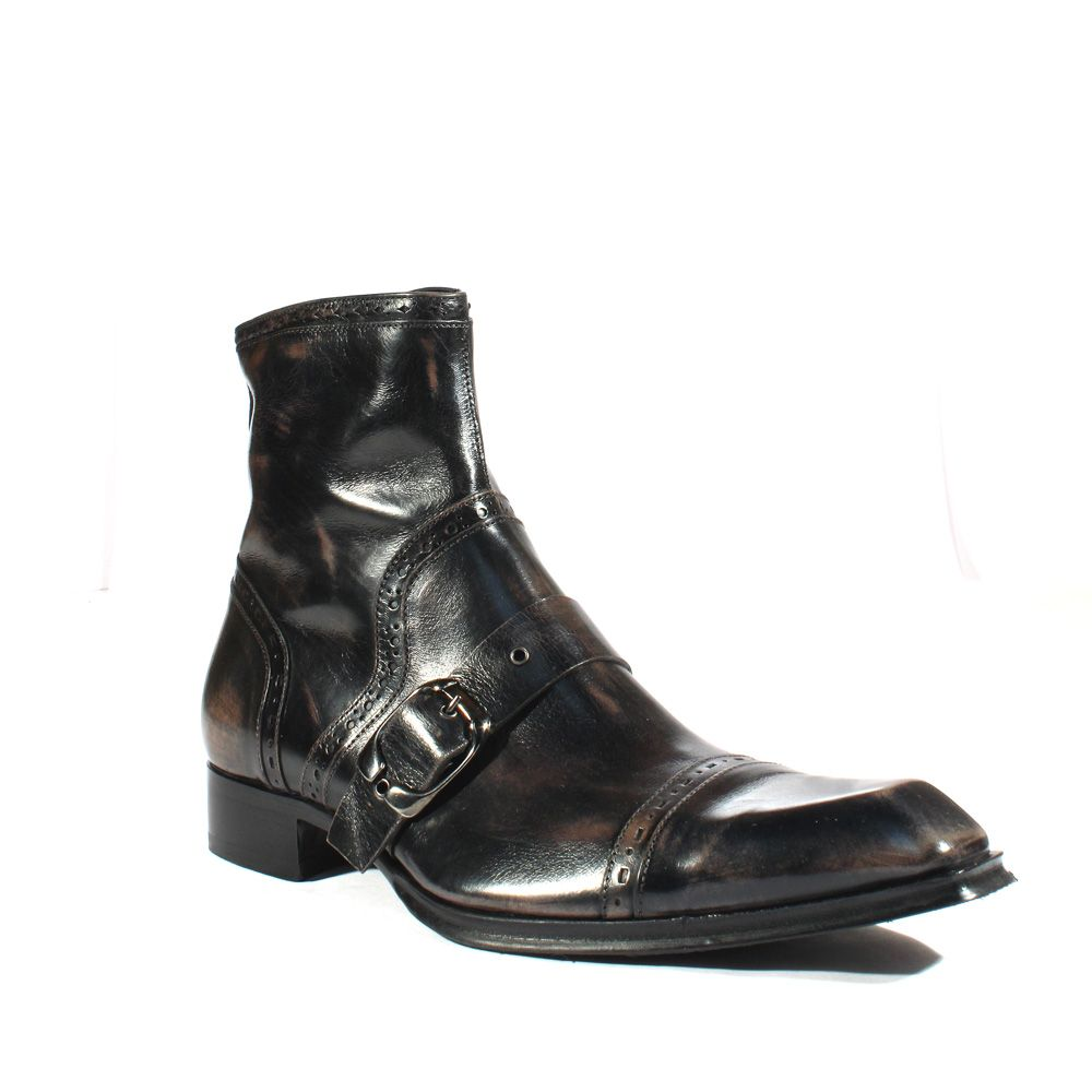 Toe jg1701 Shoes Handpainted Jo Buckle Boots Square Mens Ghost 1CAxqp