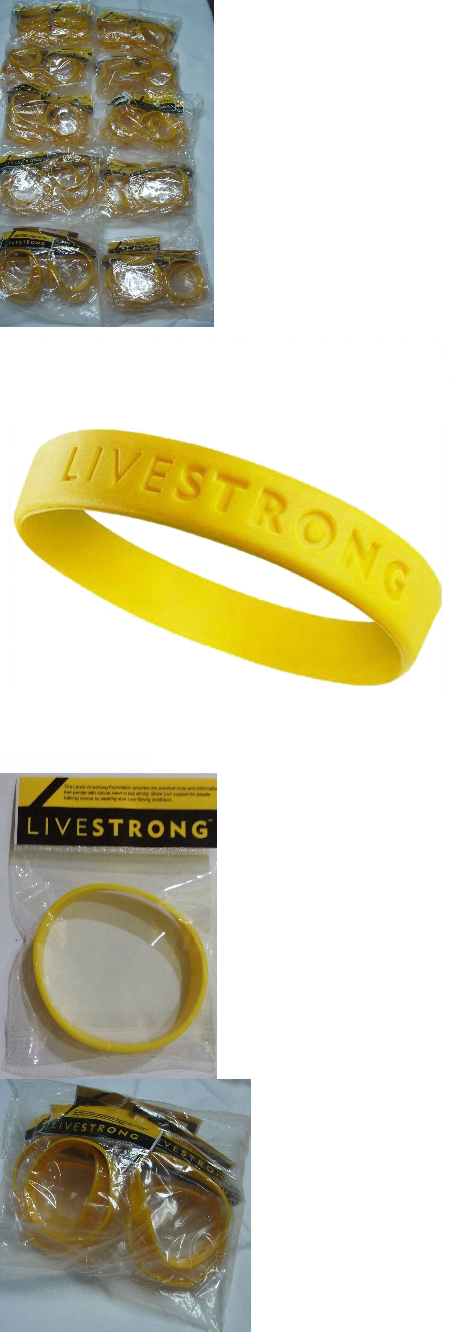 Wristbands 169276 100 Livestrong Live Strong Bracelet Lot Lance Armstrong New Size
