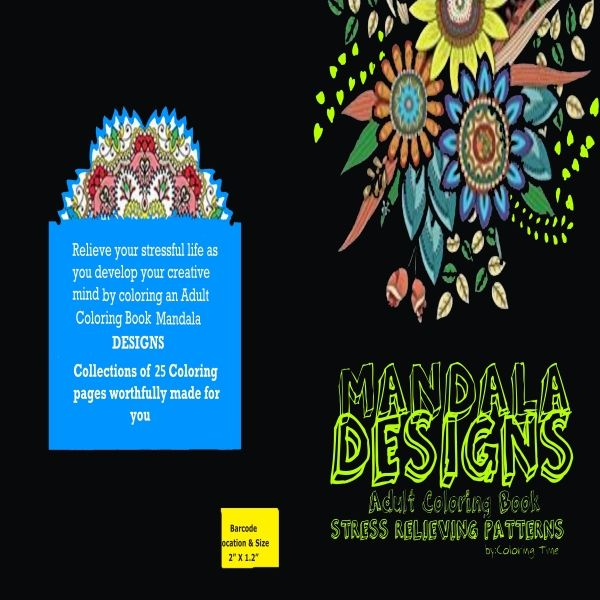 Adult Coloring Bookstress Relievingpatternsmandala Designs