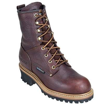 Leather work boots, Logger boots