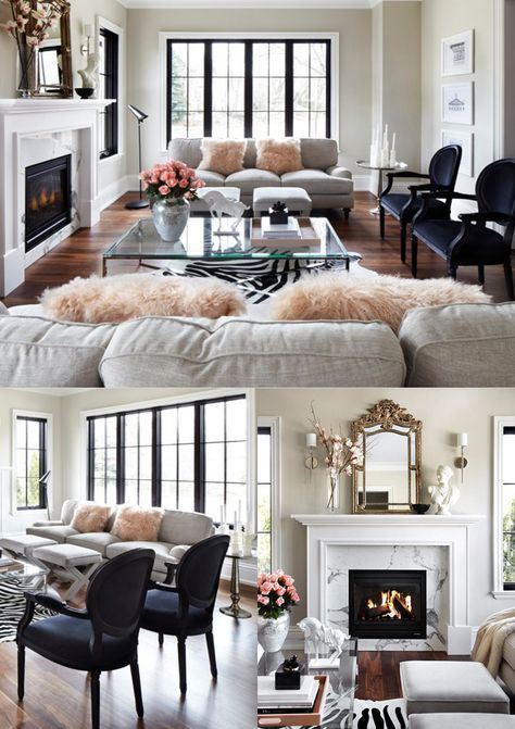 Various Small Living Room Ideas: Beautiful Parisian Chic Living Room With Marble, Muted