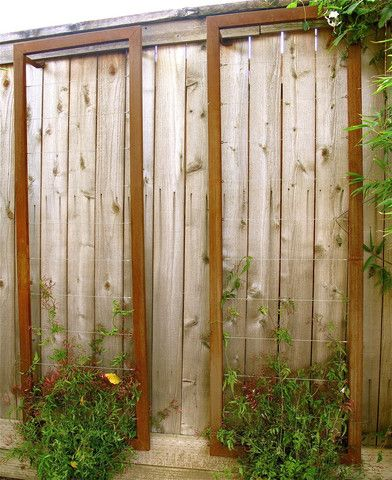 This Corten Steel Wall Trellis Is A Great Solution For Tensioned