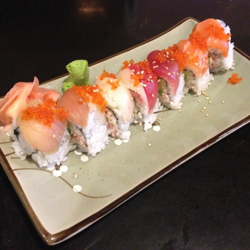 RAINBOW ROLL - New Town Sushi - Zmenu, The Most Comprehensive Menu With Photos
