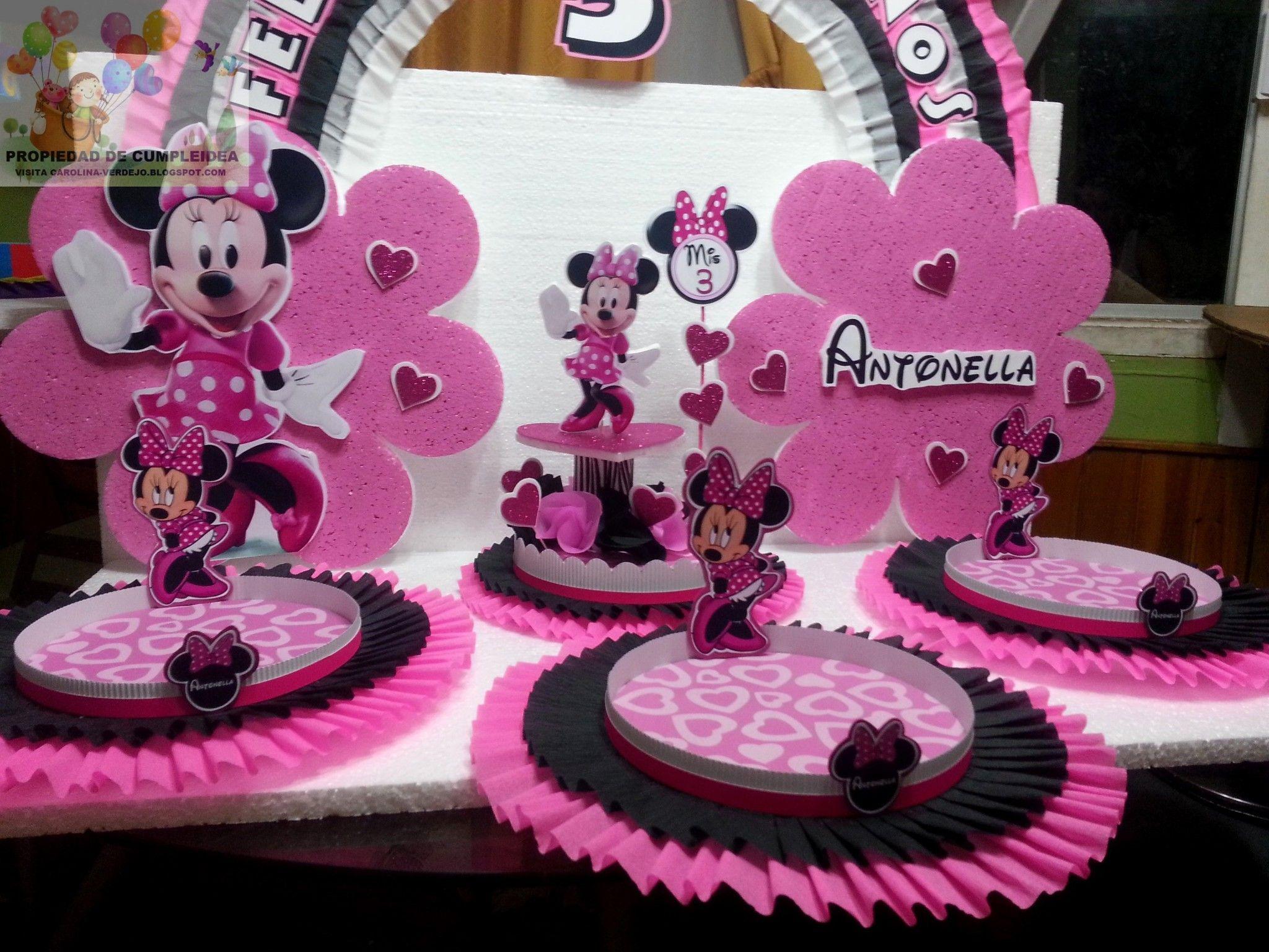 Decoracion de fiestas infantiles minnie mouse 1 minnie - Bandejas decoracion salon ...