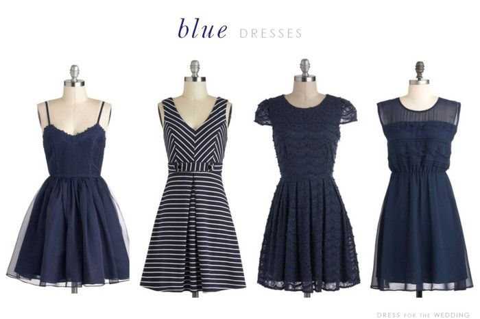 Navy dress for summer wedding
