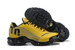 d39478d4bb1a19 Nike Mercurial TN Air Max Plus Yellow Black White Men s Running Shoes  Sneakers
