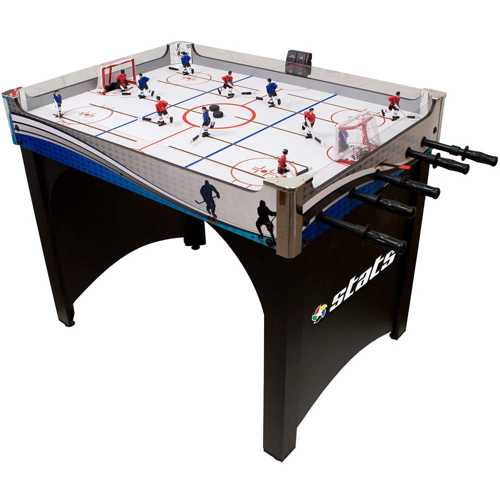 Stats 40 inch rod hockey game table toysrus game room for Table hockey
