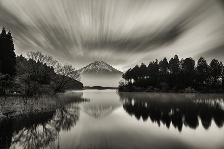 Flow of cloud on the lake Photo by Takashi   - 2015 National Geographic Photo Contest