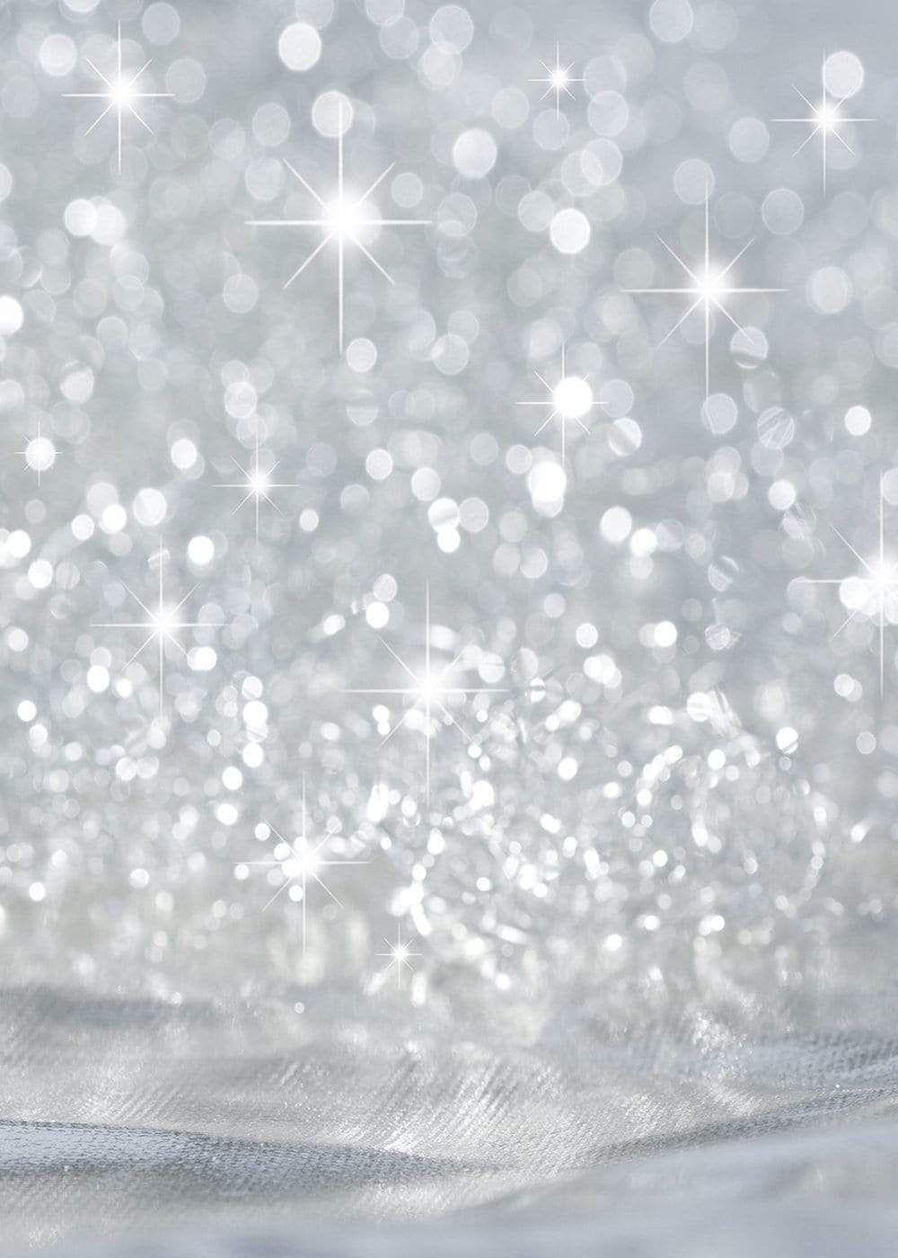 Silver  Stars Glitter Bokeh Bright Backdrop for Photography GB-97 - 20'W*10'H(6*3M)