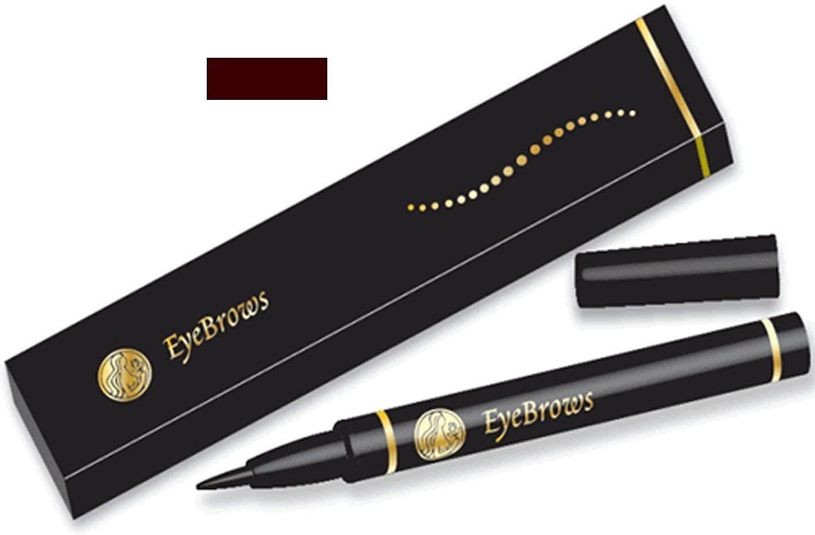 Henna Eyebrow Pen Dark Brown Color Semi Permanent Temporary