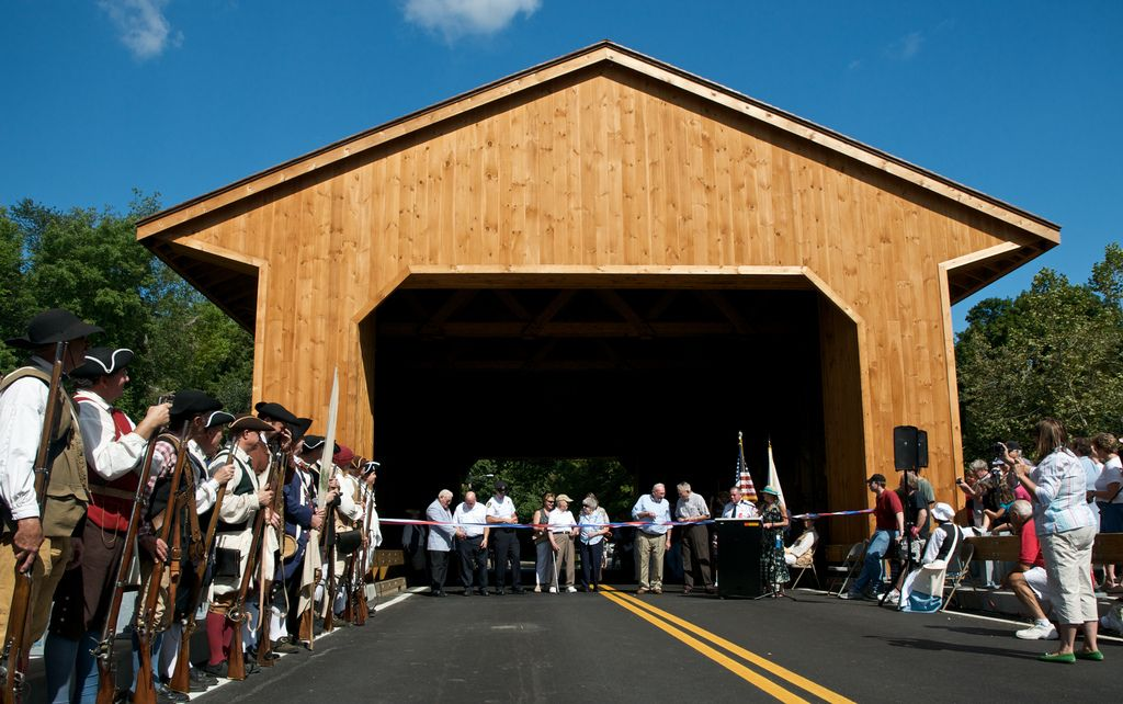 Minutemen at the Pepperell Covered Bridge | Flickr - Photo Sharing!