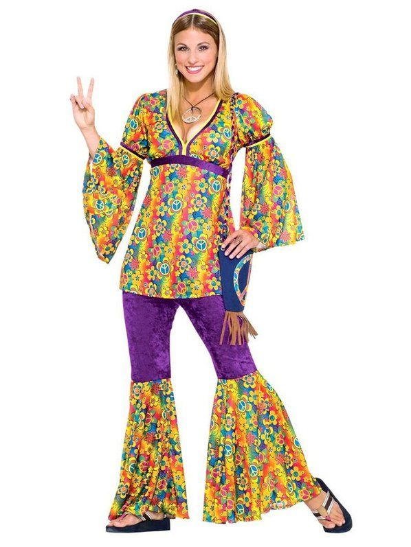 Halloween Teen Hippie Chick Costume