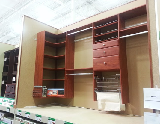 Etonnant Easy Track Closet Organizer Display In Menards