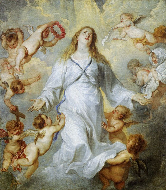 Anthony van Dyck - The assumption of the Virgin