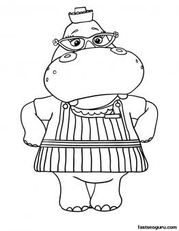 Printable Hallie the Hippo Doc McStuffins Coloring Pages