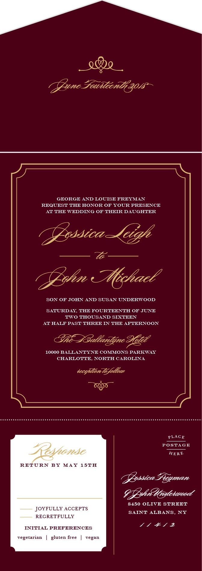 Personalized Invitations & Announcements Designs, Wedding