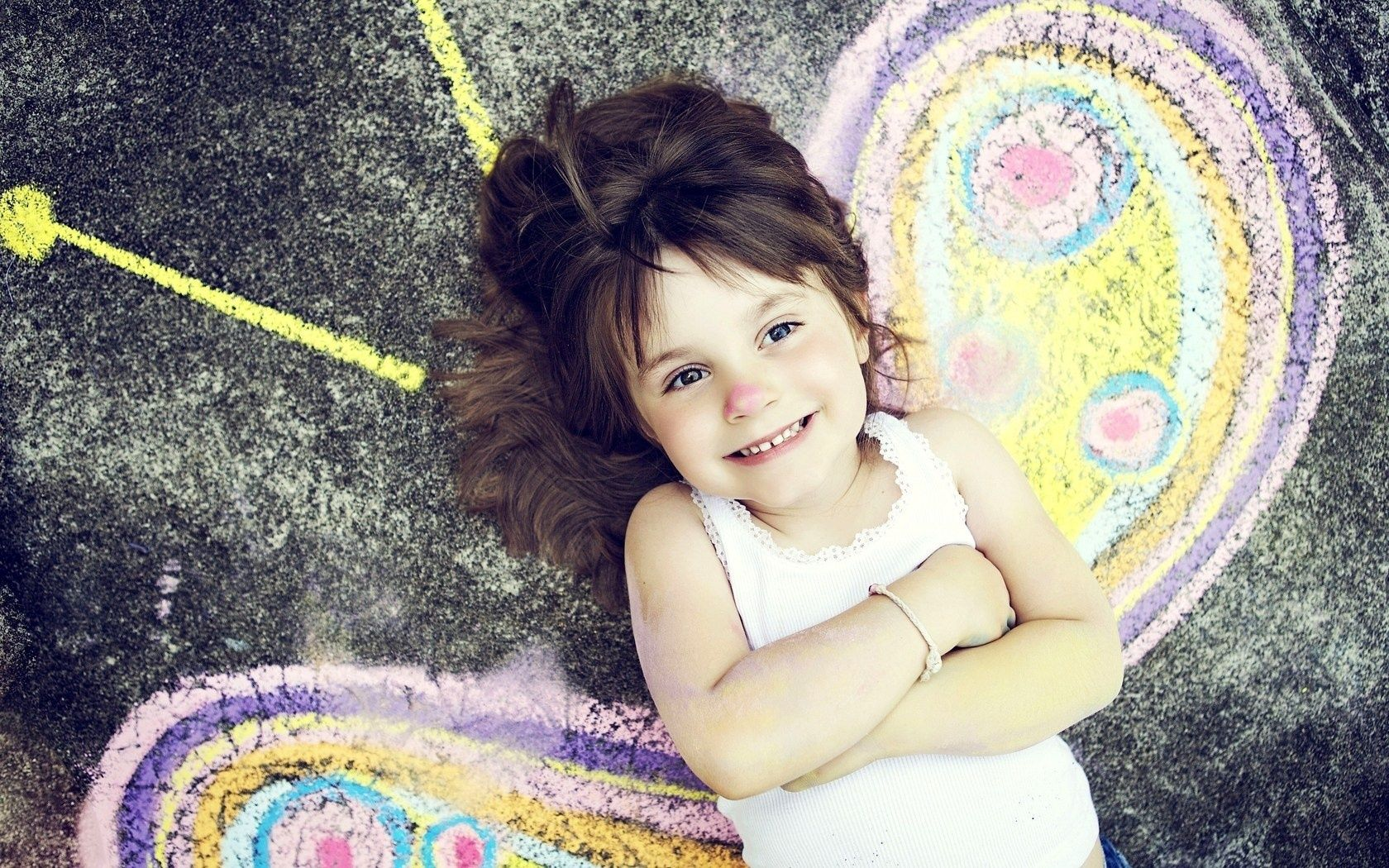 Salut wish you as happy girl smiling butterfly keep fighting