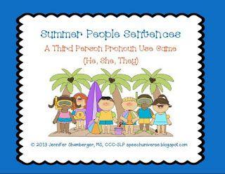Speech Universe: Summer People Sentences: 3rd person pronouns (he, ...