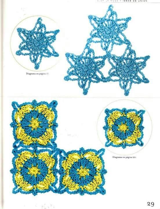 Pin de vicky en Módulos y flores ganchillo | Pinterest | Crochet ...