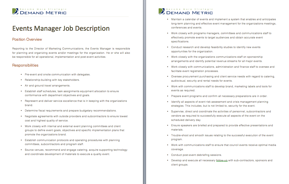 Director Of Product Management Job Description  A Template To