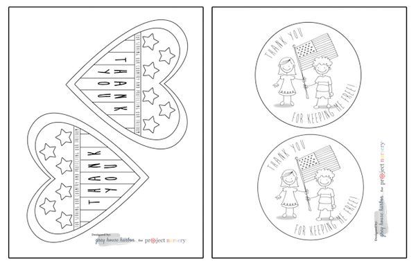graphic regarding Veterans Day Cards Printable known as Veterans Working day Playing cards for Children toward Colour Free of charge Printables for
