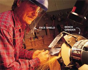 How to Sharpen Tools | tool sharpening | Bench grinder