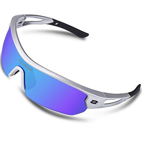 5a6aa3d74b4 RIVBOS Polarized Sports Sunglasses Sun Glasses with 4 Int... https