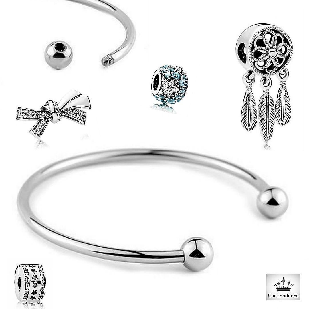 Jonc Ouvert Charm's Elegance - créez votre bracelet fantaisie et ...
