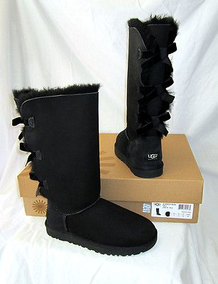 UGG BAILEY BOW, black tall... so cute
