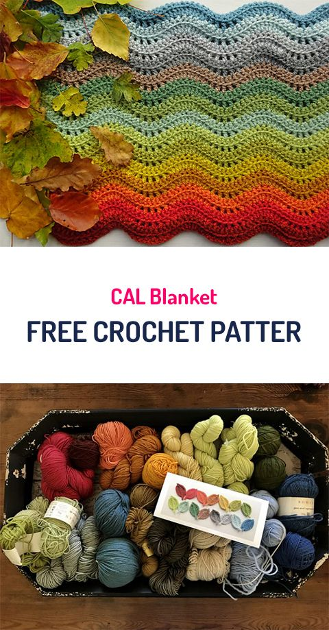 CAL Blanket Free Crochet Pattern #crochet #yarn #crafts #homedecor ...